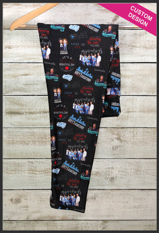 Grey's Anatomy Leggings Custom Print Novelty Leggings Grey's Anatomy Leggings - Arrow Trend Leggings
