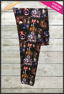 Labyrinth Leggings Custom Print Novelty Leggings Custom Labyrinth Leggings Goblin King - Arrow Trend Leggings
