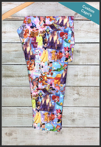 Magical Kingdom Capri Leggings Custom Print Novelty Leggings - Arrow Trend Leggings