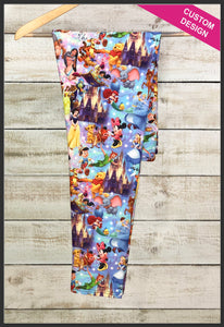 Disney's Magical Kingdom Leggings Custom Print Novelty Leggings - Arrow Trend Leggings