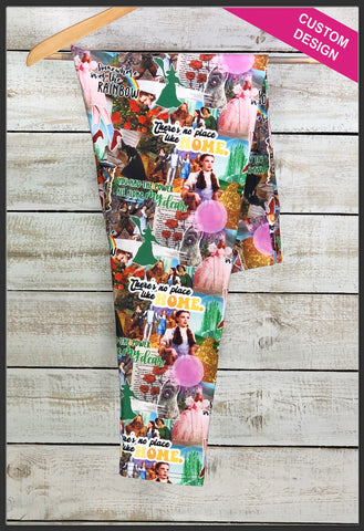 Wizard of Oz Leggings Leggings Dorothy Wicked Witch Custom Print Novelty Leggings - Arrow Trend Leggings