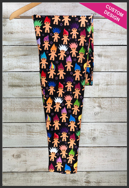 Original Troll Doll Leggings Custom Print Trolls Leggings Good Luck Doll - Arrow Trend Leggings
