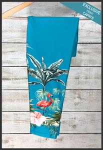 Custom Palm Tree Flamingo Print Capri Leggings Flamingo Capri Leggings - Arrow Trend Leggings