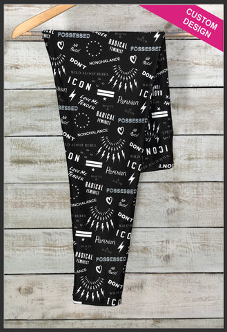 Schitt's Creek Leggings Custom Print Novelty Leggings Custom TV Series Leggings Schitt's Creek - Arrow Trend Leggings