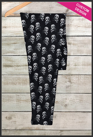 Star Eye Skull Leggings Custom Novelty Leggings - Arrow Trend Leggings
