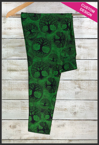 Celtic Tree of Life Leggings Custom Print Tree of Life Leggings - Arrow Trend Leggings
