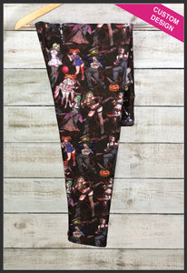 Sexy Horror Villain Leggings Custom Print Novelty Leggings Sexy Villainous Vixens - Arrow Trend Leggings