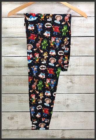Food Mascot Joggers Custom Print Novelty Jogger Pants Food Mascots Joggers - Arrow Trend Leggings