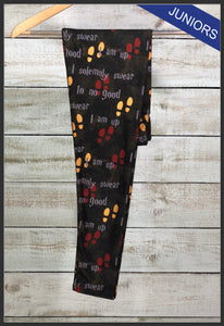 Junior's Custom Print Novelty Leggings - Arrow Trend leggings