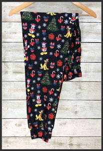Mickey Mouse Christmas Jogger Pants with Pockets Custom Christmas Joggers - Arrow Trend Leggings