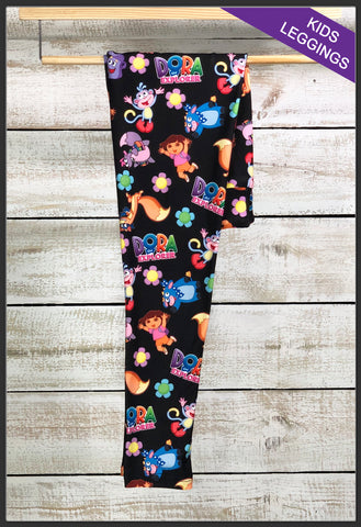 Kids Dora Leggings Kids Custom Print Leggings Dora the Explorer Kids Leggings - Arrow Trend Leggings