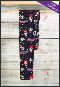 Kids Custom Print Leggings Kids Powerpuff Girls Leggings - Arrow Trend Leggings