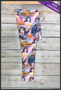 Kids Wonder Woman Leggings Kids Custom Print Leggings - Arrow Trend Leggings