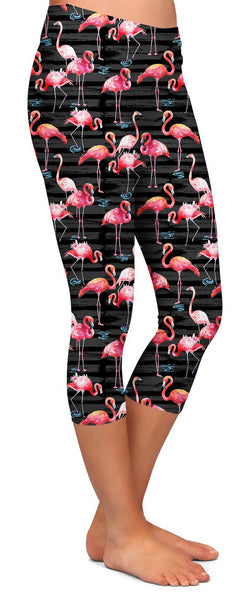 Custom Flamingo Capri Leggings Flamingo Capri's - Arrow Trend Leggings