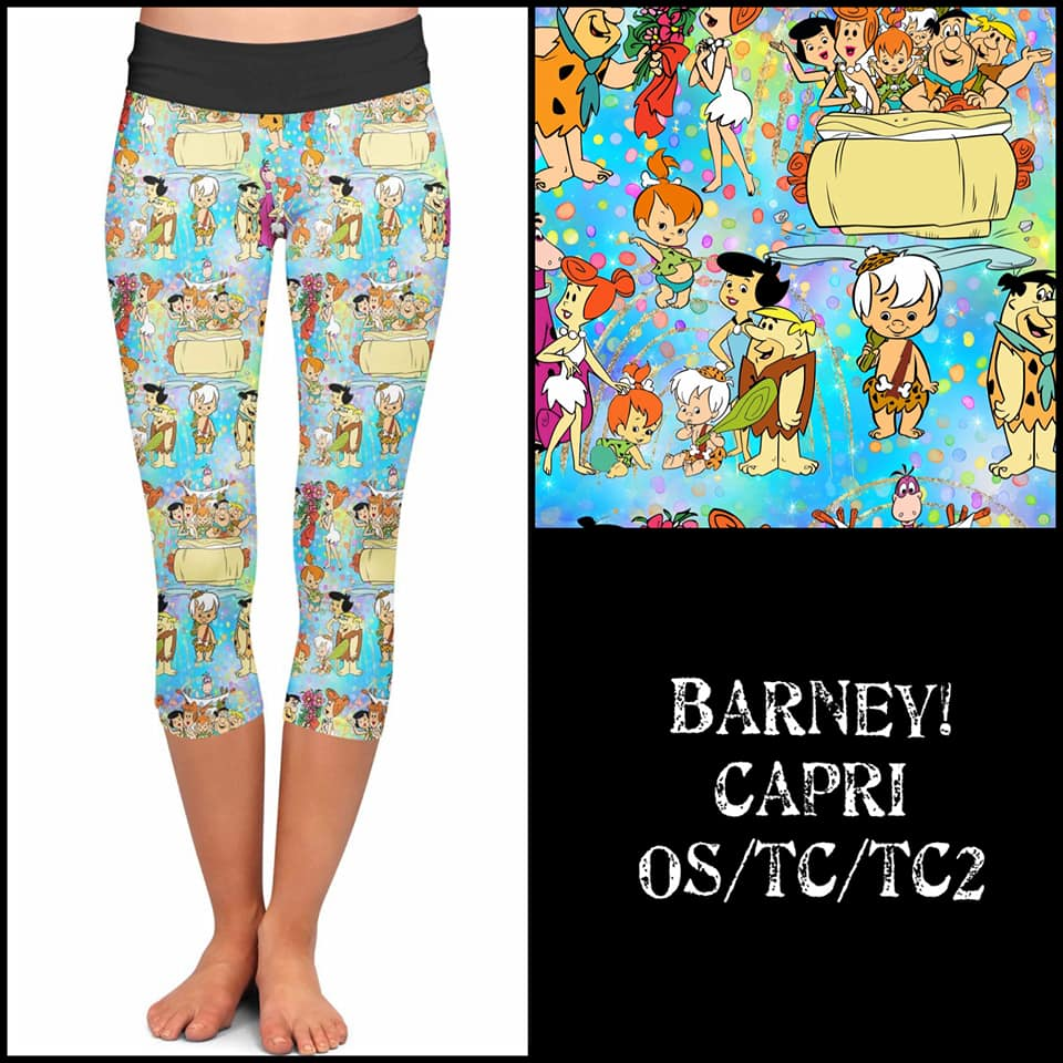 Pre-Order Flintstones Capri Leggings Custom Print Leggings - Arrow Trend leggings