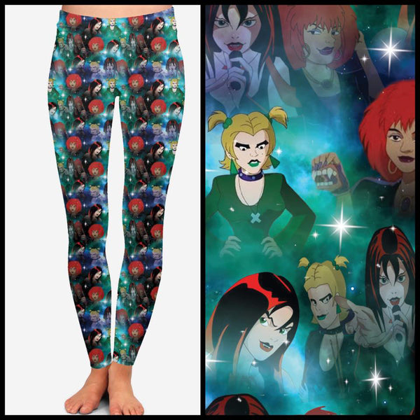 Scooby Doo's Hex Girls Leggings Custom Print Hex Girls Leggings - Arrow Trend Leggings