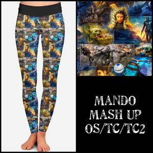 Pre-Order Mando Leggings Custom Print Novelty Leggings - Arrow Trend Leggings