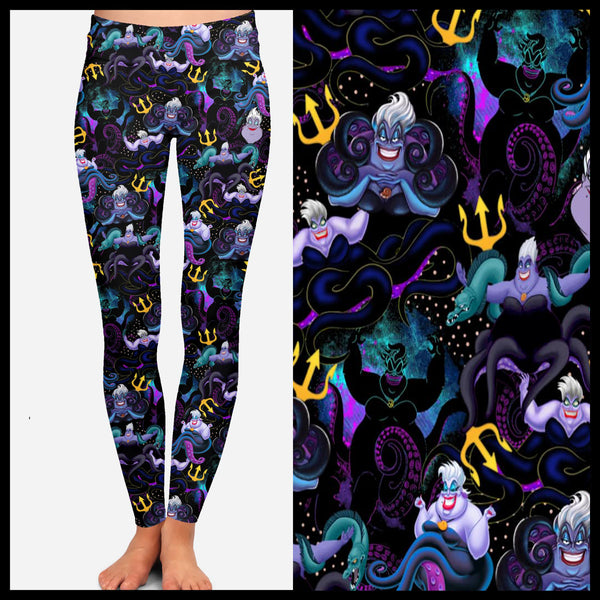 Ursula Leggings Custom Princess Villain Leggings - Arrow Trend Leggings