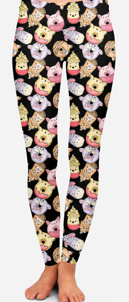 Winnie the Pooh Sweet Treat Leggings Custom Winnie Treats Leggings Mock Up - Arrow Trend Leggings