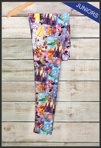 Junior's Disney's Magical Kingdom Leggings Custom Print Leggings - Arrow Trend Leggings