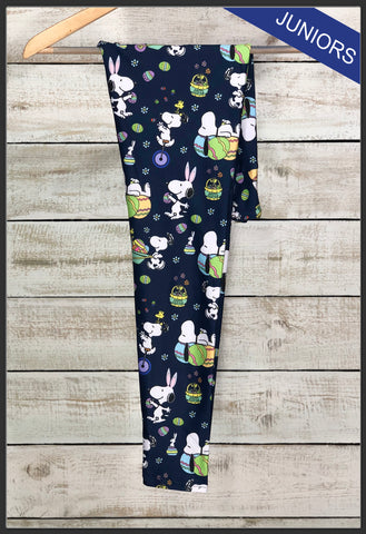 Juniors Snoopy Easter Custom Leggings Custom Novelty Leggings Easter Leggings - Arrow Trend Leggings