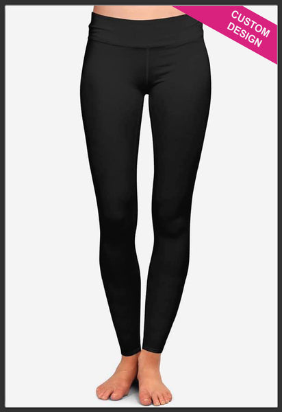 Custom Solid Black Leggings Custom Print Novelty Leggings - Arrow Trend Leggings