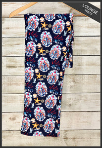 Women's Custom Nautical Lounge Pants Take Me Away Anchor Lounge Pants - Arrow Trend Leggings