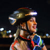 Intelligent steering helmet LED bike helmet