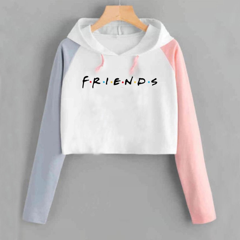 Friends Tv Show Sweatshirt Tv Series Pullover Cropped Hoodie Harajuku Printed Entral Perk Cafe Sweatshirts Moletom Feminino