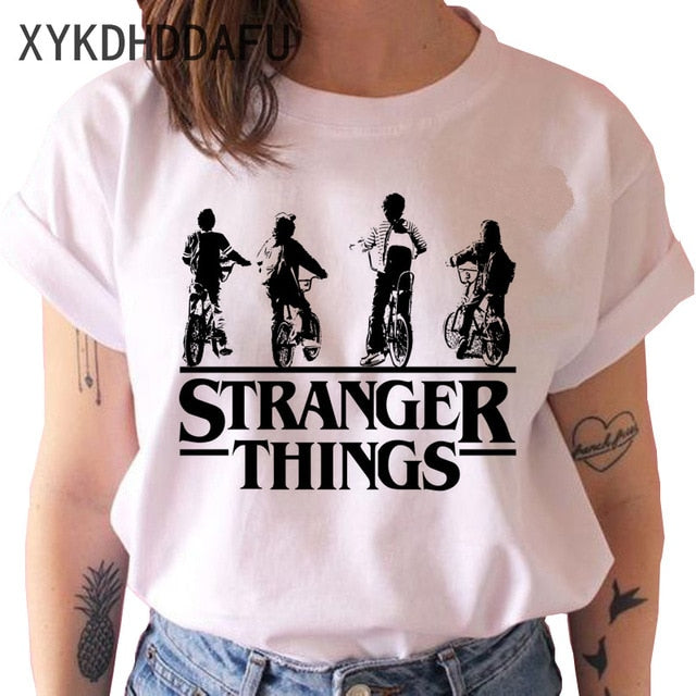 Stranger Things Season 3 T Shirt Men/women Upside Down Eleven Tshirt Male Graphic T-shirt Top Tee Shirts Funny Clothing Harajuku