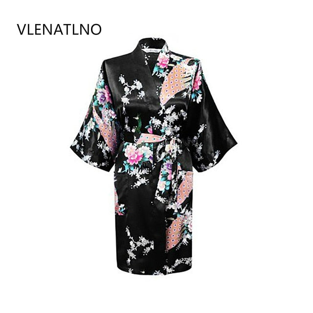 Silk Kimono Robe Bathrobe Women Satin Robe Robe Longue Femme For Women Night Sexy Robes Night