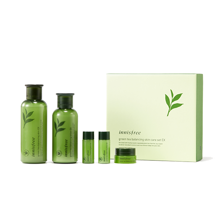 Innisfree Green Tea Balancing Skin Care Set EX - Sister Seoul, K-Beauty
