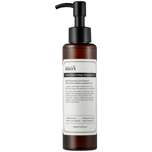 Klairs Gentle Black Deep Cleansing Oil 150ml - Sister Seoul, K-Beauty