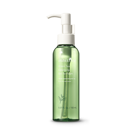 Innisfree - Green Tea Cleansing Gel-To-Foam 150ml - Sister Seoul, K-Beauty