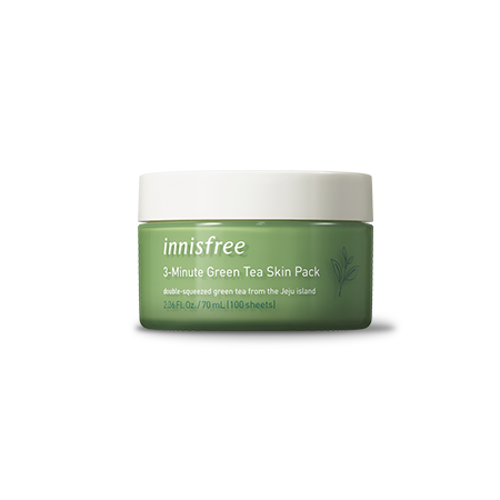 Innisfree 3-Minute Green Tea Skin Pack 70ml - Sister Seoul, K-Beauty