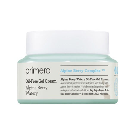 Primera Alpine Berry Watery Oil Free Gel Cream - Sister Seoul, K-Beauty