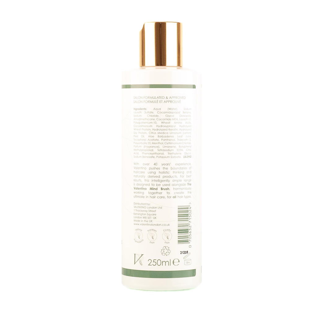 Valentino Haircare Cleansing Shampoo 250ml Bottle for all hair types including curly hair