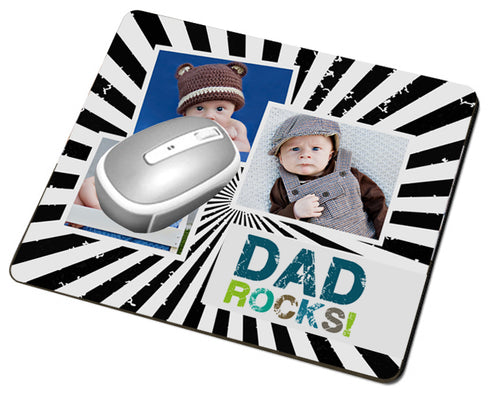 Dad Rocks Mouse Pad