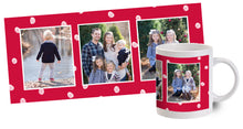 Load image into Gallery viewer, Red Mug With Snowflakes