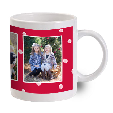 Red Mug With Snowflakes