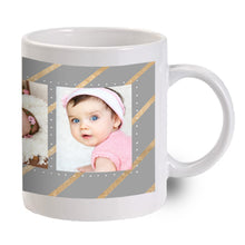 Load image into Gallery viewer, Silver with Gold Ribbon Mug