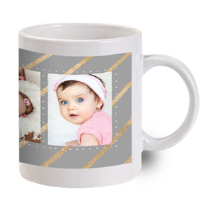 Silver with Gold Ribbon Mug