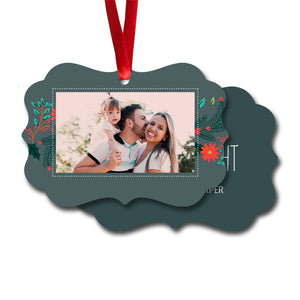 Merry and Bright Flowers Ornament