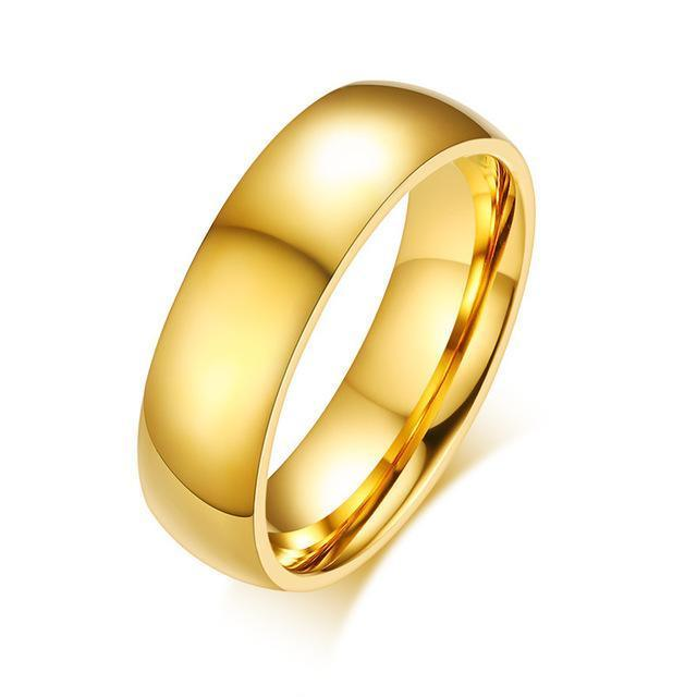 Vnox Gold Color Wedding Bands Ring For Women Men Jewelry 6mm