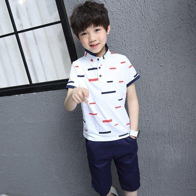 new style sale uk top-rated real Children Clothes 2019 Summer School Boys Clothes Tracksuit Cotton  T-shirt+Shorts 2Pcs Outfits Kids Casual Boys Clothing Sets