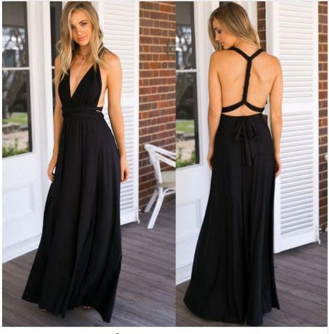 c71af0f7c51a Ladies Sexy Women Maxi Club Dress Bandage Long Party Multiway Swing Dress  Convertible Infinity Robe Bridesmaids