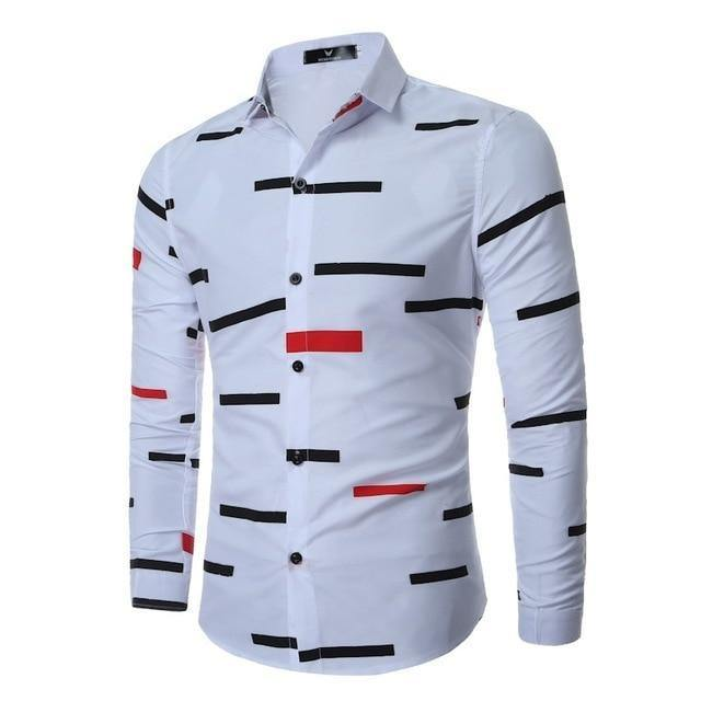 Casual Button Down Shirts Men Long Sleeve Shirt Fashion Flower 3d Printed Turn Down Collar Slim Fit Clothing Shoes Accessories