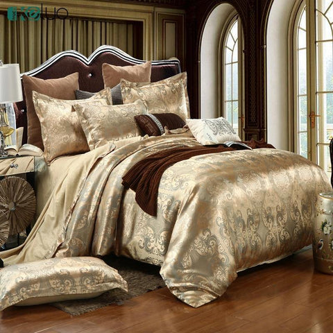 Wedding Luxury Bedding Sets Jacquard Queen King Size Duvet Cover