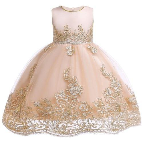 8a085125d Flower Girls dresses for New Year clothes Party Baby Girls Sleeveless Big  Bow Princess Wedding Dress