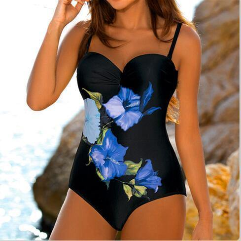 93034631ae5 ... Large Size For Badpak XXL. Filter. Flower One Piece Swimsuit Female  Fused Swimwear Trikini Swimsuits Push Up Plus Print Bathing Suit 2019
